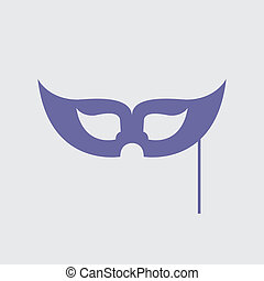 Mask sign icon.