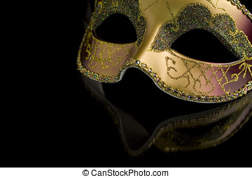 Mask - Carnival mask on a black background. The part of mask...