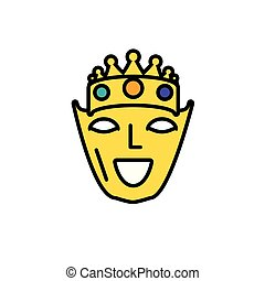 mask with crown of king for carnival