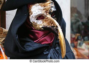 maska, -, ve, karnawał