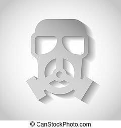 maske, schutzsicherheit, ikone