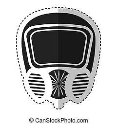 maske, sicherheit, freigestellt, ikone