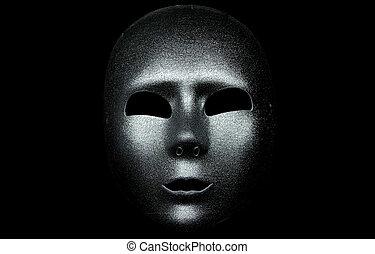 maske, silber