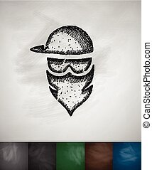masked man icon