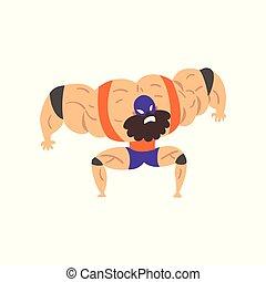 Masked wrestling fighter character, professional wrestler of...