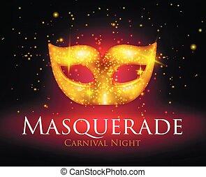maskerade, hintergrund, maske
