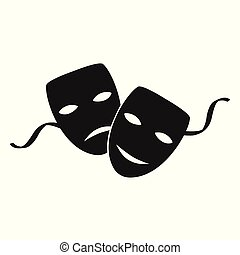 maski, teatr, wektor
