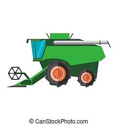 maskin, fält, förena, klar, lantbruk, skörda