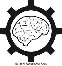maskin, hjärna