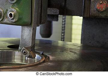 maskin, industriell, fräsning