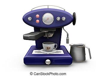 maskin, kaffe