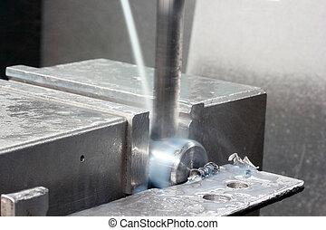 maskin, metallbearbetning, cnc, fräsning