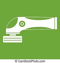 maskin, oxeltand, grön, ikon