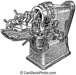 maskin, pipe-cutting