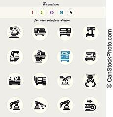 maskin, sätta, redskapen, ikon