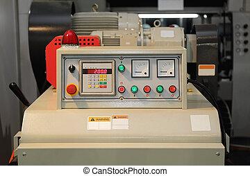 maskine, styrepanel
