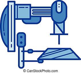maskinen bearbetar, fodra, icon.