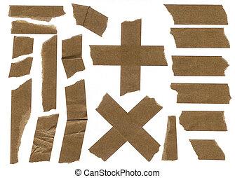 Masking paper tape strip sharp scan