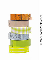 Masking tape isolated on white background