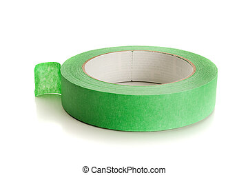 Masking Tape - Extreme close-up image of a roll of masking...