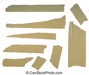Masking Tape - A set of brown masking tape pieces