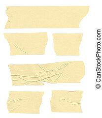 Masking Tape - Strips of masking tape. Isolated on white....