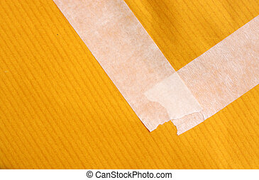 Masking tape with paper