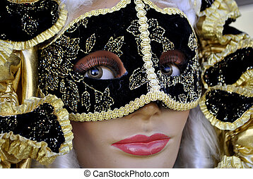 Venice carnival - masks at the Venice carnival