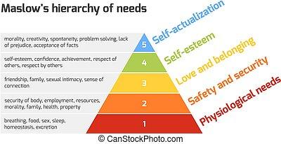 maslow's, ピラミッド, 必要性