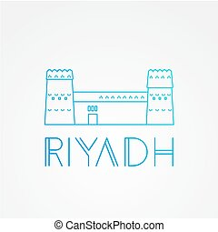 Masmak Fortress the symbol of Riyadh, Saudi Arabia....