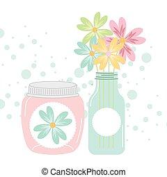 mason jar - jar mason design, vector illustration eps10...