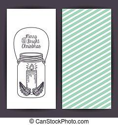 Mason jar decoration for Christmas season - Sketch candle...