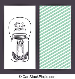 Mason jar decoration for Christmas season - Sketch candle...