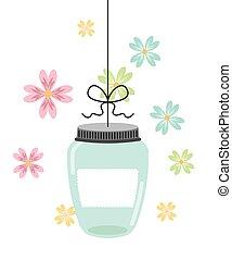 mason jar design, vector illustration eps10 graphic