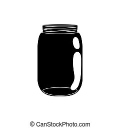Mason jar glass