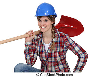 Mason shovel female