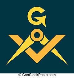 masonic, τετράγωνο , έμβλημα , διαβήτης , μυστικό , fraternity), (sacral