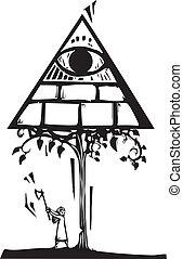 masonic, arbre