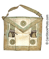 Masonic bag - A traditional freemason's canvas bag from the...