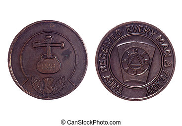 Masonic coin number 228 cutout