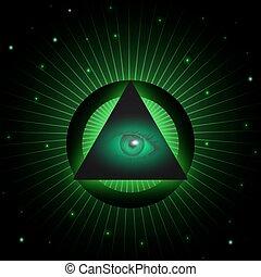 Masonic eye background