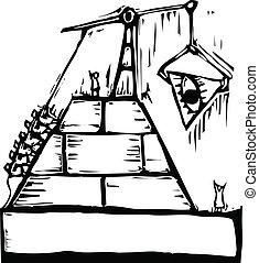 Masonic Pyramid Construction - A construction of a masonic...