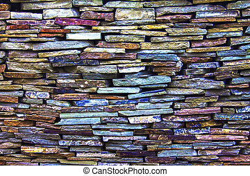Masonry construction background. Horizontal, bright, high-contrast picture. Subject - backgrounds, abstract.