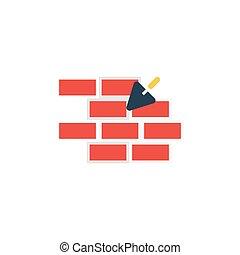 masonry flat icon
