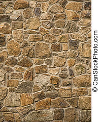 Brown masonry rock wall