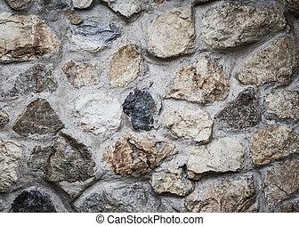 masonry rock wall