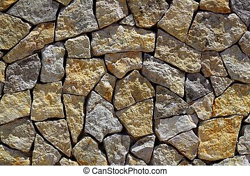 masonry stone wall rock construction pattern