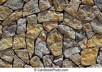 masonry stone wall rock construction pattern