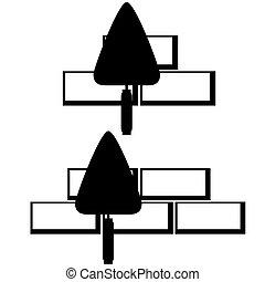 Masonry trowel - Trowel for masonry bricks. The illustration...