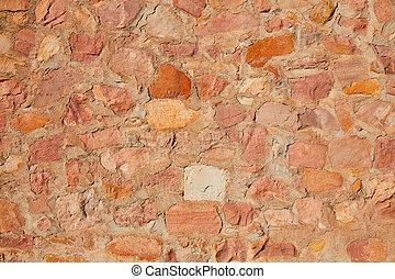 Masonry wall detail of rodeno limestone stone